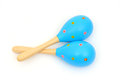 Two wooden rattle Royalty Free Stock Images