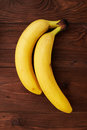 Two yellow fresh bananas Royalty Free Stock Photo