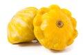 Two Yellow Pattypan Squash Iso...