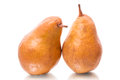 Two yellow pears Royalty Free Stock Image