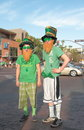 Two young americans dressed up to celebrate st patricks day march tempe arizona usa Royalty Free Stock Images