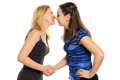 Two young attractive women Royalty Free Stock Images