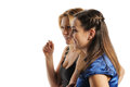 Two young attractive women Stock Photo