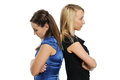 Two young attractive women standing Royalty Free Stock Photo