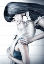 Two young beautiful woman twins kissing women blonde and brunette Royalty Free Stock Photography