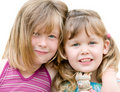 image photo : Two young blond sisters