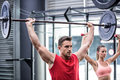 Two young Bodybuilders doing weightlifting Royalty Free Stock Photo