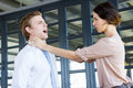 Two young business colleagues having an argument Royalty Free Stock Photo