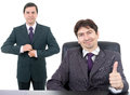 Two young business men Royalty Free Stock Images