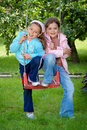 image photo : Two young girls