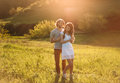 Two young lovers Royalty Free Stock Photo