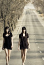 Two young models Royalty Free Stock Photo
