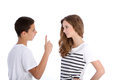Two young teenagers arguing Royalty Free Stock Photography