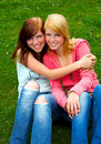 Two young teens Royalty Free Stock Photo