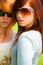Two young teens Royalty Free Stock Images