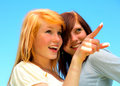 Two young teens Royalty Free Stock Photography