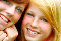 Two young teens. Close-up Stock Photography