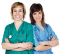 Two young  women doctors Royalty Free Stock Photography