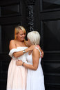 Two young women is getting married Royalty Free Stock Image