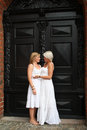 Two young women is getting married Stock Photography