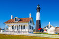 Tybee island light house of georgia usa Stock Images