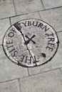 Tyburn Tree (Gallows) Plaque in London Stock Photo