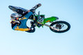 Tyler bereman fmx doing freestyle motocross at the monster energy cup in las vegas october Stock Images