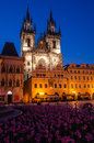 Tyn church landmark of prague old city one the symbols our lady gothic in town main square stare mesto Royalty Free Stock Image