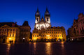 Tyn church landmark of prague old city one the symbols our lady gothic in town main square stare mesto Royalty Free Stock Photography