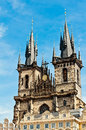 Tyn church in prague czech republic Stock Images