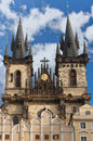 Tyn church in prague landmark of czech republic Stock Photography