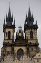 Tyn church prague old square Royalty Free Stock Photo