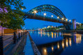Tyne Bridge in Newcastle Upon Tyne, England Royalty Free Stock Photo