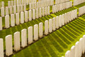 The tyne cot cemetery in ypres world war belgium flanders Stock Images