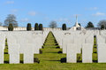 Tyne cot war graves at Royalty Free Stock Images