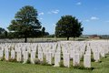 Tyne cot world war one cemetery the largest british war cemetery in the world in passendale belgium Royalty Free Stock Photos