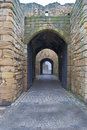Tynemouth Castle entrance Stock Photo