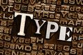 Type plus Background Stock Image