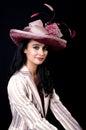 Type romantique de Beauty.Retro Photographie stock