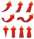 Type of various arrow set red create by vector Royalty Free Stock Image