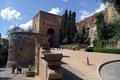 Types of alhambra beautiful summer sunny weather granada spain Royalty Free Stock Photo