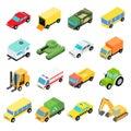 Types of automobiles isometric set Royalty Free Stock Photo