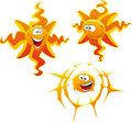 Types of cartoon Sun Royalty Free Stock Images