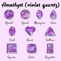 Types of cuts of Amethyst