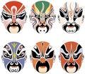 Types of facial make-up in Beijing opera Stock Image