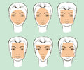 Types of female face shapes