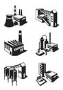 Types of industrial construction vector illustration Royalty Free Stock Images