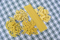 Types of pasta Royalty Free Stock Photo