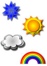 Types of Weather Royalty Free Stock Image