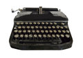 Typewriter black on a white background Royalty Free Stock Photo